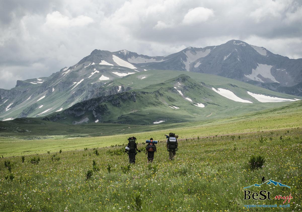 С 11 по 14 июля поход через горы к морю